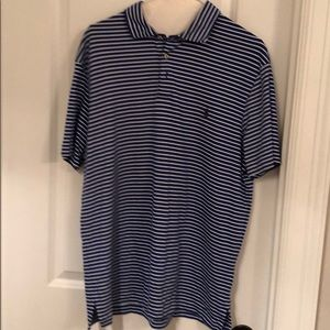 Polo blue and white striped